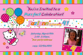 download now hello kitty photo birthday invitations free