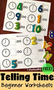 telling time preschool worksheets writing numbers telling time