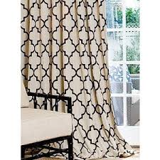 living rooms brown u0026 white curtains geometric curtains polyvore