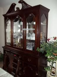cherry china cabinet hutch and in living room with german or how