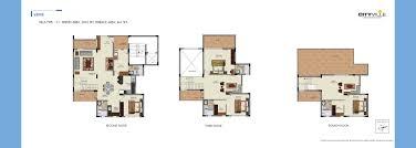 Triplex Floor Plans Valmark Cityville Villas Bannerghatta Road Bangalore