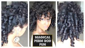 aleeping in petm rods magical perm rod roller set fun natural hair youtube