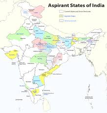 United States Map With States And Capitals by Proposed States And Territories Of India Wikipedia