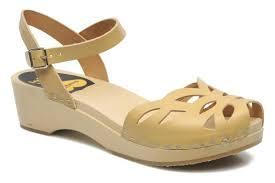 swedish hasbeens ornament clog beige sandals chez sarenza 116932