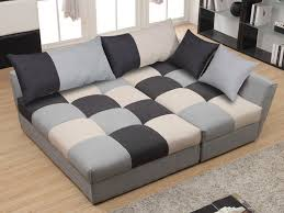 vente privee canape angle canapé angle convertible en tissu gris ou chocolat romane