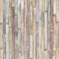 Wood Peel And Stick Wallpaper by Komar Whitewashed Wood Wall Mural Hayneedle