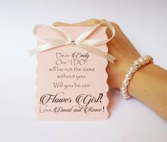 will you be my flower girl gift will you be my flower girl card and bracelet ask flower girl