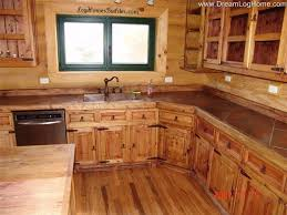 Cabin Kitchen Cabinets 24 Best Medium Counter Tops Images On Pinterest Log Cabins