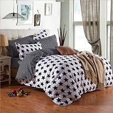 Quilted Duvet Cover King Amazon Com Nattey White And Black Stars Bedding Quilt Duvet Cover