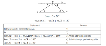 The Sum Of Interior Angles G Co 10 Assessment Item U003e Complete A Partial Proof Of The Interior