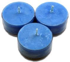 blue tea light candles 12pk soy tea lights blue sea glass
