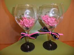 wine glass gifts diy wine glasses weddingbee photo gallery