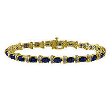 sterling silver bracelet with sapphire images Bracelets sapphire sears