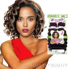 ripple hairstyle 2x ripple deep wave bulk 12 inch riah double pack synthetic