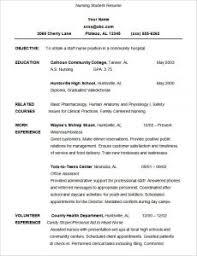 nursing student resume template nursing student resume template business