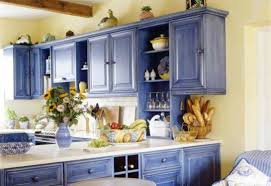 kitchen cabinet painting ideas country style blue color cool