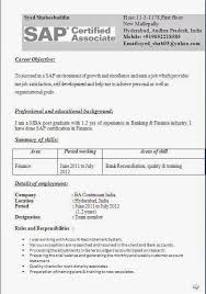 amazing sap mm fresher resume format 31 about remodel good