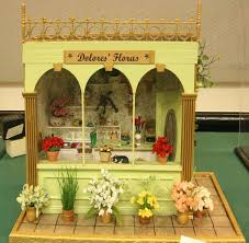 Flower Shop Interior Pictures Custom Miniature Flower Shop Container Made From Books