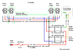 h4 bulb wiring diagram h4 wiring with diode wiring diagram odicis