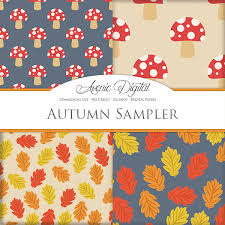 Flower Design For Scrapbook Free Autumn Digital Paper Sampler Scrapbook Backgrounds Fall