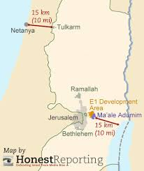 West Bank Map Map Of E1 Area In West Bank Showing 15km Distances Dead S U2026 Flickr