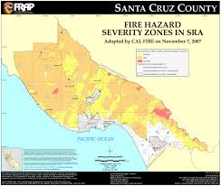 Bc Wildfire Live Map by Cal Fire Santa Cruz County Fhsz Map