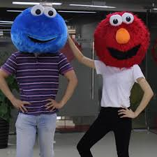 cookie monster and elmo halloween costumes aliexpress com buy elmo monster u0026 cookie mascot only head