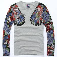 men u0027s hip hop vintage loose style t shirt cranes printing tattoo