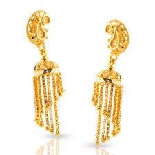 gold kaan earrings miti beaded gold jhumkas jewellery india online caratlane