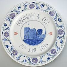 personalized ceramic wedding plates 65 best personalised painted plates images on