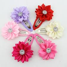 flower hair clip new 2017 high quality polygonal flower hair baby girl