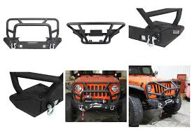 jeep yj winch fb22005 fishbone offroad front winch bumper with full grille guard