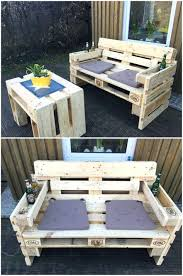 outdoor furniture with pallets diy pallet and old bed garden