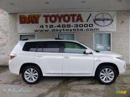 2013 toyota highlander limited for sale 2013 toyota highlander hybrid limited 4wd in blizzard white pearl