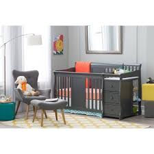 Cribs With Changing Tables Attached Nursery Decors Furnitures Gray Cribs With Changing Table In