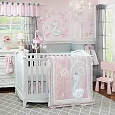 Nursery Bedding Set Lambs Swan Lake Crib Bedding Collection Buybuy Baby