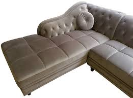canap d angle en velours canapé d angle gauche empire velours taupe style chesterfield