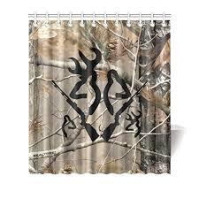 Camo Shower Curtain Clear Browning Deer Camo Love Bathroom Shower Curtain Waterproof
