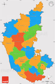 Blank Map Of India Pdf by Political Simple Map Of Karnataka Cropped Outside