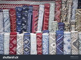 Tunisian Rug Carpet Rug Store Fabric Detail Market Stock Photo 69998008