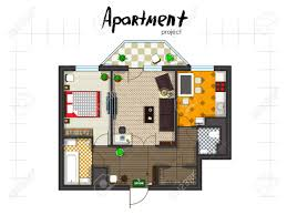 floor plans with furniture apartment project floor plan with furniture kitchen living