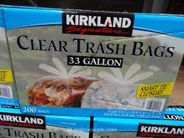 krikland kirkland signature 33 gal clear trash bags