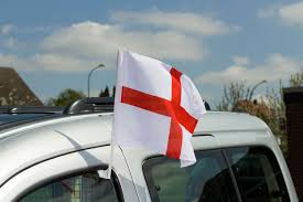 england st george car flag 12x16