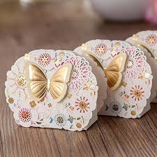wedding candy favors chocolate favor boxes flower and butterfly theme wedding candy box