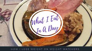 weight watchers what i eat in a day thanksgiving dinner 2