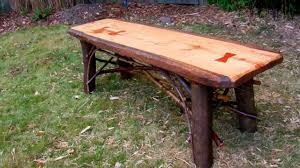 Rustic Wood Furniture For Sale How To Make A Rustic Plank Table By Jim The Rustic Furniture