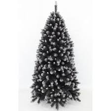 black christmas tree grand empress spruce christmas tree black frosted silver 1 83m