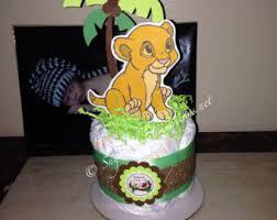 lion diaper cake etsy