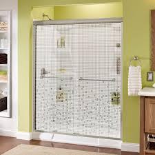 E Shower Door Delta Crestfield 60 In X 70 In Semi Frameless Sliding Shower