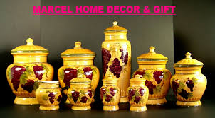 tuscan style kitchen canister sets themed kitchen decor sets kitchen and decor